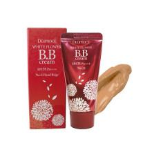 BB крем с экстрактом белых цветов 23 тон Deoproce White Flower BB Cream SPF35 PA+++ , 30 г