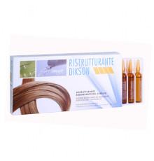 Уникальный реструктурирующий комплекс Dikson Coiffeur Ristrutturante для восстановления структуры волос 12 ампул по 12 мл.