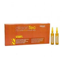 Ампульное средство Dikson Coiffeur Setamyl при любой щелочной обработке волос 12 ампул по 12 мл.