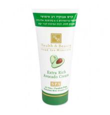 Многофункциональный крем с авокадо Health and Beauty Body and SPA Extra Rich Avocado Cream для ухода за увядающей кожей тела 180 мл.