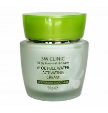 3W CLINIC АЛОЭ/Крем для лица Aloe Full Water Activating, 50 гр