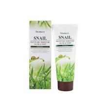 Крем для ног и рук с муцином улитки Deoproce Snail Recovery Moisture Hand And Foot , 100 мл