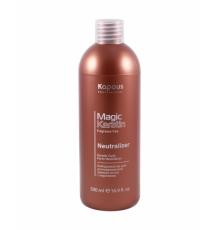 Нейтрализатор для долговременной завивки волос с кератином, 500 мл Kapous Professional