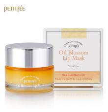 PETITFEE Маска для губ ВИТАМИН Е/ОБЛЕПИХА Oil Blossom Lip Mask (Sea Buckthorn oil), 15 гр