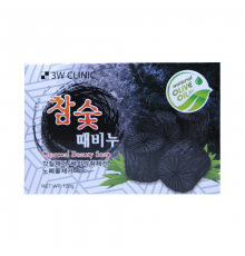 3W CLINIC Мыло кусковое УГОЛЬ Charcoal Beauty Soap, 120 гр