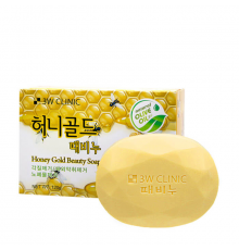 3W CLINIC Мыло кусковое МЕД Honey Gold Beauty Soap, 120 гр