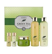 Уходовый набор для лица Deoproce Premium Green Tea Total Solution 3 Set , 260мл*2/ 100мл / 30мл*2