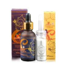 Набор для осветления кожи лица Elizavecca Vitamin C 100% Powder + Vita-Multi Whitening Sauce Serum , 30 мл + 12 г