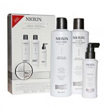"Набор ""3-Ступенчатая система"" Nioxin Hair System Kit 1 XXL для ухода за тонкими, натуральными волосами 300 мл.+300 мл.+100 мл."