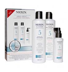 """Набор """"3-Ступенчатая система"""" Nioxin Hair System Kit 5 XXL для ухода за химически обработанными или натуральными волосами 300+300+100 мл."""