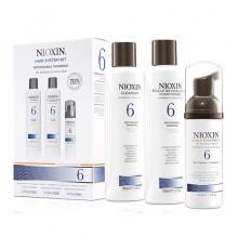 """Набор """"3-Ступенчатая система"""" Nioxin Hair System Kit 6 для ухода за волосами от средних до жестких, химически обработанных или натуральных заметно редеющих волос 150 мл.+150 мл.+50 мл."""