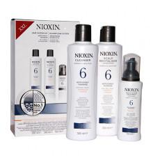 """Набор """"3-Ступенчатая система"""" Nioxin Hair System Kit 6 XXL для ухода за волосами от средних до жестких, химически обработанных или натуральных заметно редеющих волос 300 мл.+300 мл.+100 мл."""