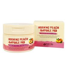 Диски пропитанные эссенцией с экстрактом персика Eyenlip Morning Peach Ampoule Pad , 120 мл