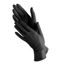Нитриловые перчатки размер L Safe and Care Чистовье для окрашивания волос и защиты рук при окрашивании и химической завивке