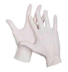 Перчатки латекс опудренный размер M Safe&Care Чистовье для окрашивания волос и защиты рук при окрашивании и химической завивке