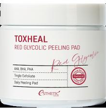 ESTHETIC HOUSE Пилинг-подушечки МИНДАЛЬНЫЕ Toxheal Red Glyucolic Peeling Pad, 100 мл (100 шт)