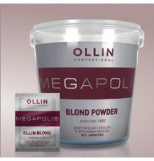 Ollin MEGAPOLIS BLOND Осветляющий порошок с аргановым маслом без аммиака 500г