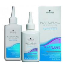 Набор Schwarzkopf Professional Natural Styling Glamour Kit 1 для химической завивки волос 180 мл.