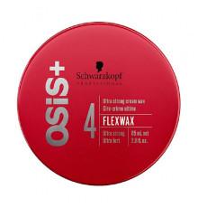 Крем-воск ультра сильной фиксации Schwarzkopf Professional Osis + Finish Flexwax для укладки волос 85 мл.