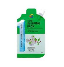 Маска для лица ночная успокаивающая Eyenlip Herb Sleeping Pack , 20 г